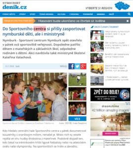 Sportovní den Nymburk - Nymburský deník-výstřižek